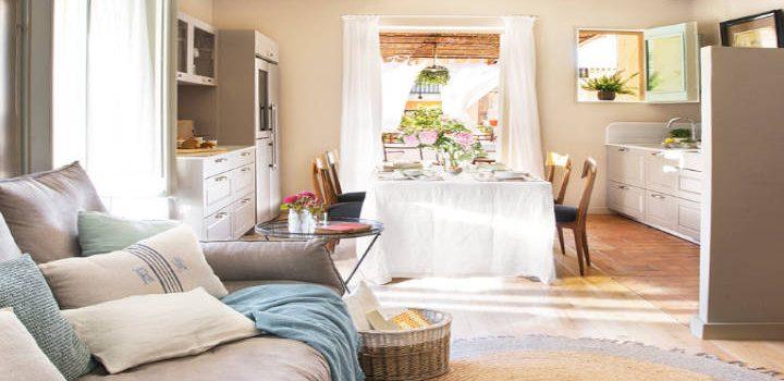 Conecta la cocina con la sala